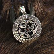 Волки в Рунах-скандинавский оберег-подвеска-серебро