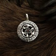 Волки в круге руническом-подвес, серебро, цена, фото