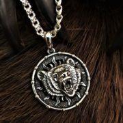 Символ Велеса-серебро,двусторонний,кулон,подвес,Логово волка
