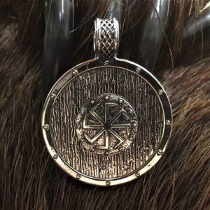 коловрат серебряный кулон