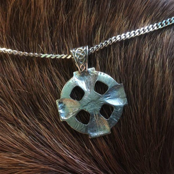кельтский крест серебро кулон