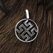 Боговник-Родовик, оберег серебро, купить, Логово волка