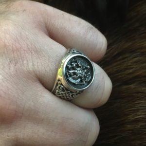Мужской перстень с гербом России