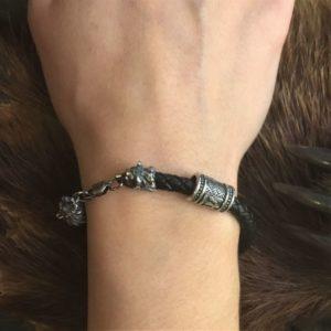браслет обережный медведи серебро