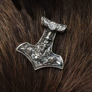 молот тора на шею серебро
