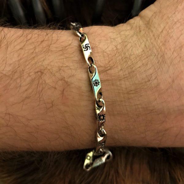 славянские символы на браслете-цена браслета с символами славян-купить браслет с оберегами-браслет недорого в серебре-фото обережного браслета-фото браслетов славянских-
