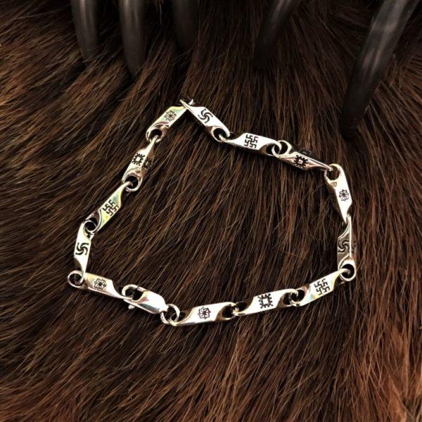 браслет серебро-золотой браслет славянский-браслет золотой-позолоченный браслет-купить позолоченный браслет-