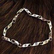 Славянский браслет-славянские обереги на браслете-серебро