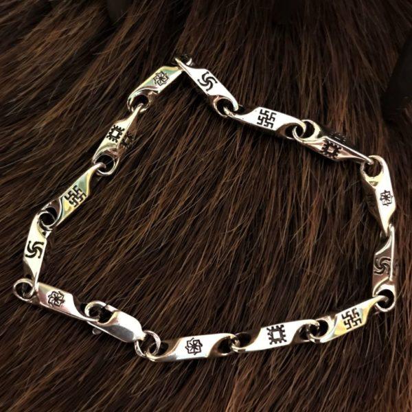 обереги славян браслет-купить браслет с оберегами-значение браслета с оберегами-обереги славян-серебро купить-золото купить-браслет золото-бисмарк золотой-якорное плетение золото