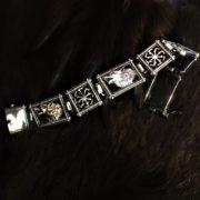 браслет серебряный волки