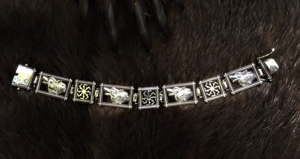 славянские символы браслет серебро