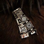 Большой мужской браслет из серебра. Славянские обереги. Отзывы