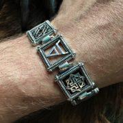браслет серебро славянские символы