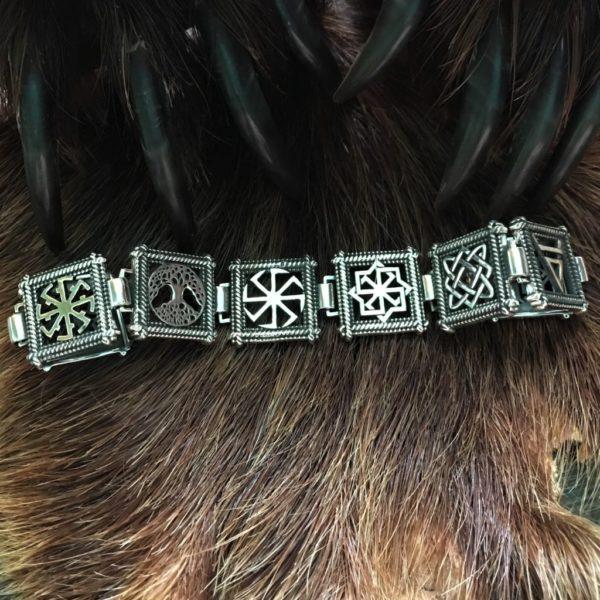 Символы славянские браслет-серебро