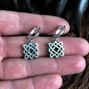 Серёжки Звезда Лады — купить, серебро,Логово Волка