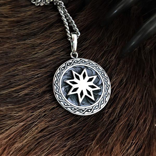 Алатырь-оберег, серебро, купить, Логово волка интернет магазин