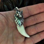 Настоящий клык Волка (Зуб волка)- купить, амулет