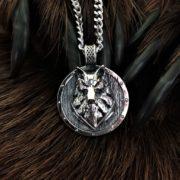 Щит Волк-оберег волк-лик волка-волк кулон-символ волк