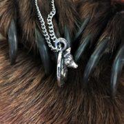 Волк на щите-оберег волк-кулон волк-серебро-Логово волка магазин