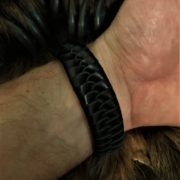 Кожаный плетёный браслет. Ручная работа. Купить. Отзыв.